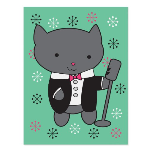 Lounge Singer Cat Post Card