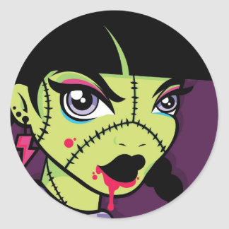 LoungeKat Sticker: 80's Zombie Classic Round Sticker