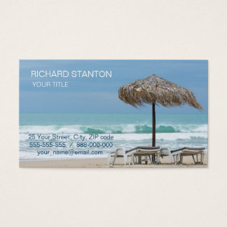 Lounges on the beach business card