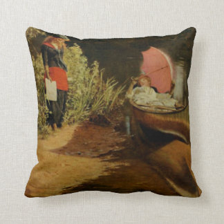 Lounging In A Canoe Vintage Artwork Throw Pillow