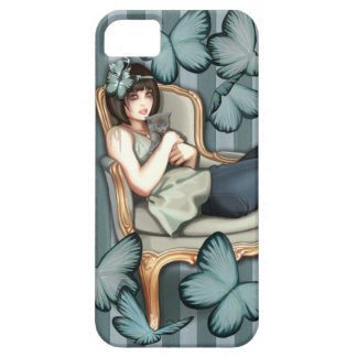 Lounging in my Louis chair iPhone 5 Cover