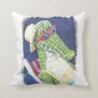 Loungning Lizard Throw Pillow