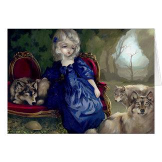 """Loup-Garou:  La Tristesse"" Greeting Card"