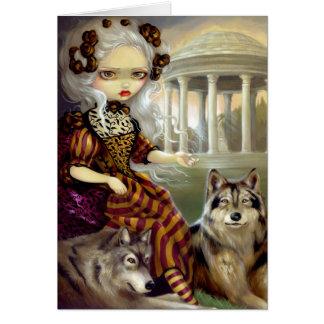 """Loup-Garou:  Le Temple"" Greeting Card"