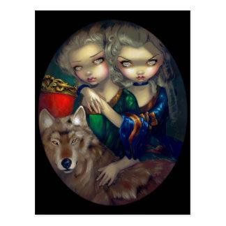 """""""Loup-Garou:  Les Jumeaux"""" Postcard"""