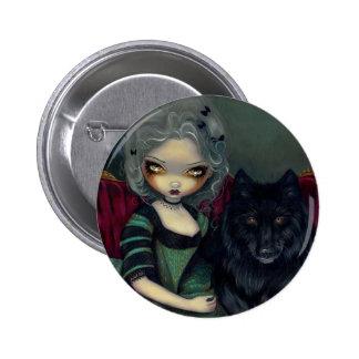 """Loup-Garou: Noir"" Button"