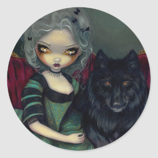 """Loup-Garou: Noir"" Sticker"