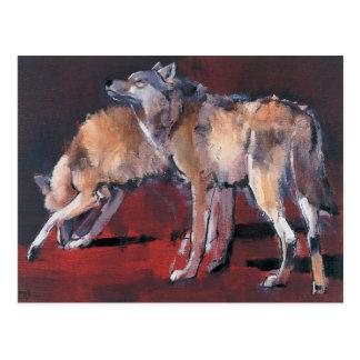 Loups 2001 postcard