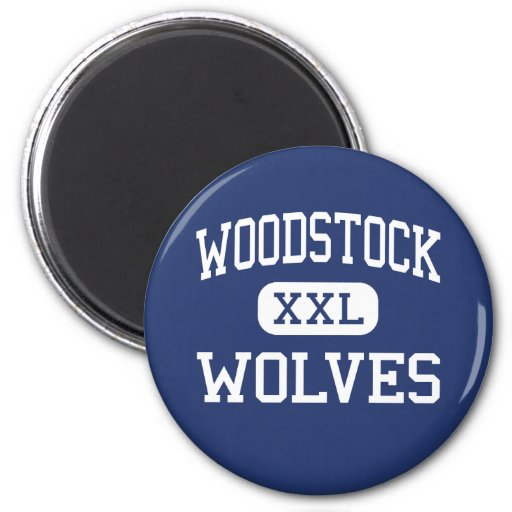Loups Woodstock moyen la Géorgie de Woodstock Aimants Pour Réfrigérateur