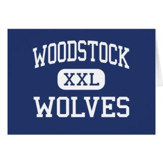 Loups Woodstock moyen la Géorgie de Woodstock Carte De Vœux
