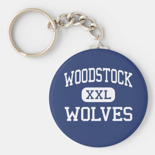 Loups Woodstock moyen la Géorgie de Woodstock Porte-clés