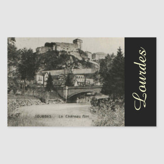 Lourdes Fort Chateau France postcard Sticker