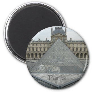 Louvre 2 Inch Round Magnet