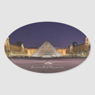 Louvre Art Museum, Oval Sticker
