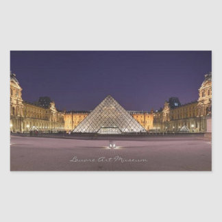 Louvre Art Museum, Rectangle Sticker