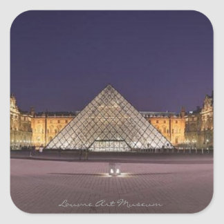 Louvre Art Museum, Square Sticker
