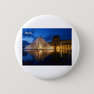 louvre-in-the-night-[kan.k].JPG 2 Inch Round Button