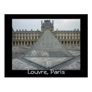 Louvre museum postcard