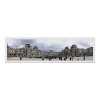 Louvre Panoramic Poster