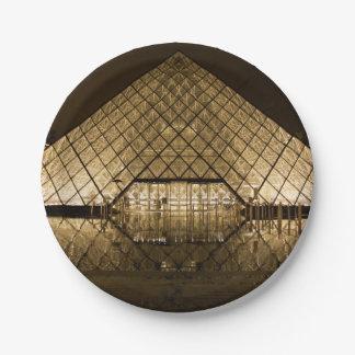 Louvre, Paris/France Paper Plate