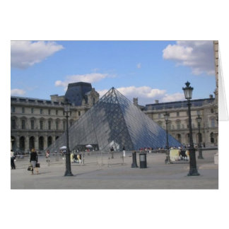 Louvre Pyramid Card