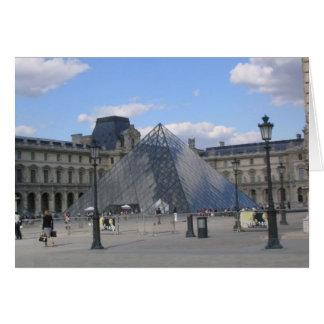 Louvre Pyramid Card