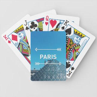 Louvre Pyramid Paris Bicycle Playing Cards