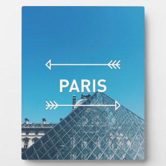 Louvre Pyramid Paris Plaque