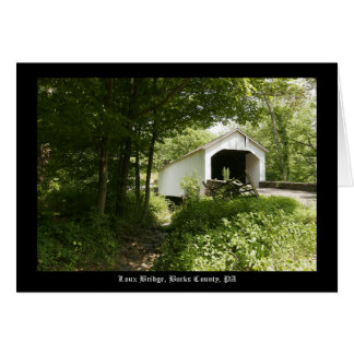 Loux Covered Bridge Card