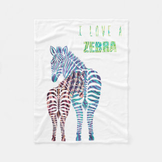 Lova Zebra Fleece Blanket