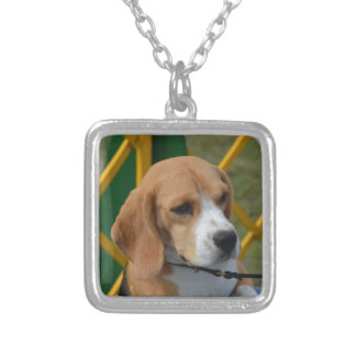 Lovable Beagle Silver Plated Necklace