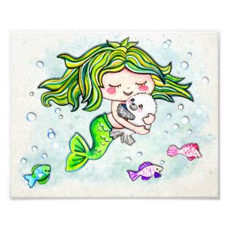 Lovable Cutie Little Mermaid Photo Print
