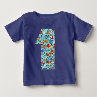 Lovable Little Monsters Number One Baby Tee