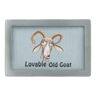 Lovable Old Goat Belt Buckle