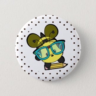 Lovable Smarty Bee 2 Inch Round Button