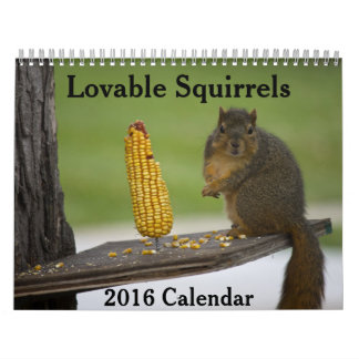 Lovable Squirrels 2016 Calendar