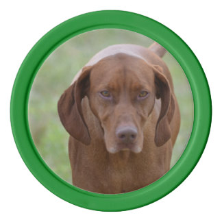 Lovable Vizsla Poker Chips