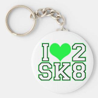 Love2SK8-Black & Lime Keychain