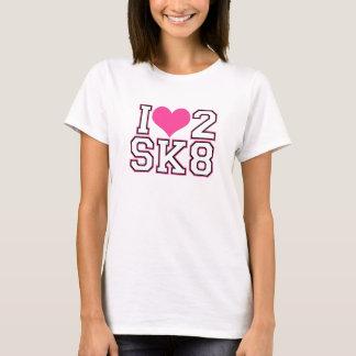 Love2SK8-Pink & Black T-Shirt