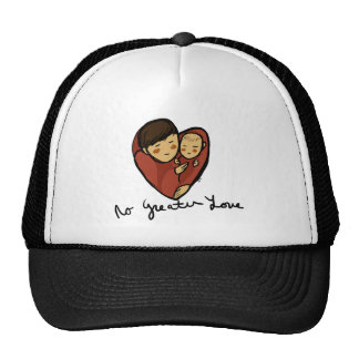 love4dad daddy and baby with text trucker hat