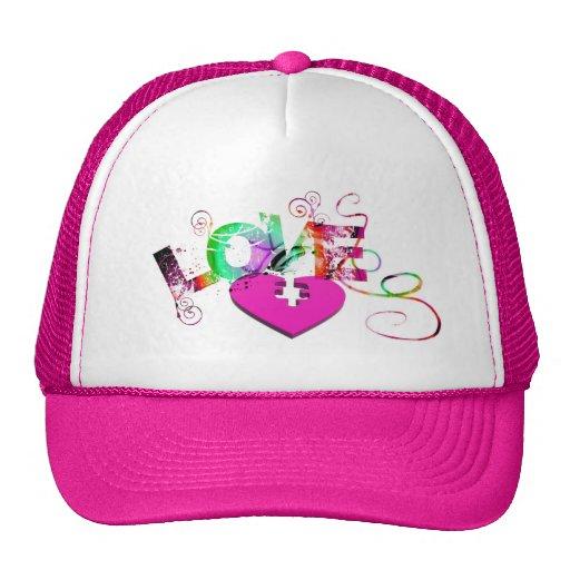 love-129534 GRUNGE TYPOGRAPHY RANDOM love romance Mesh Hats