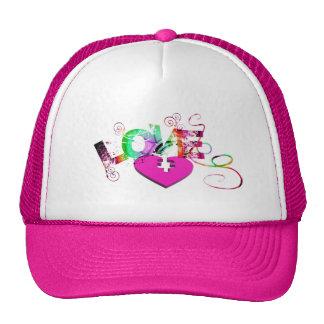 love-129534 GRUNGE TYPOGRAPHY RANDOM love romance Trucker Hat