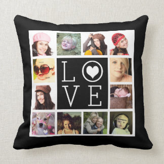 LOVE 12 Instagram Photo Collage Pillows