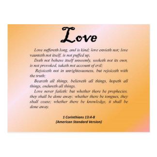 Love 1 Corinthians 13-4 Postcard
