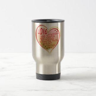 LOVE 1 Corinthians 13 :6 NLT Travel Mug