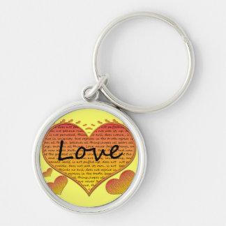Love 1 Corinthians 13 Hearts Keychain