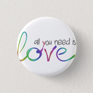 Love 1 Inch Round Button