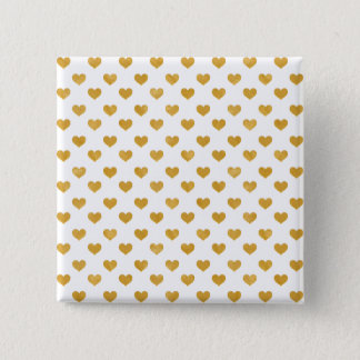 Love 2018 White - Golden heart 2 Inch Square Button