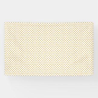 Love 2018 White - Golden heart Banner