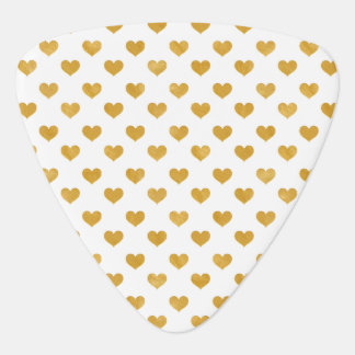 Love 2018 White - Golden heart Guitar Pick